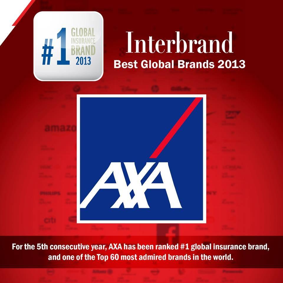 1 Best Global Insurance Brand Cross The Line Axa Interbrand