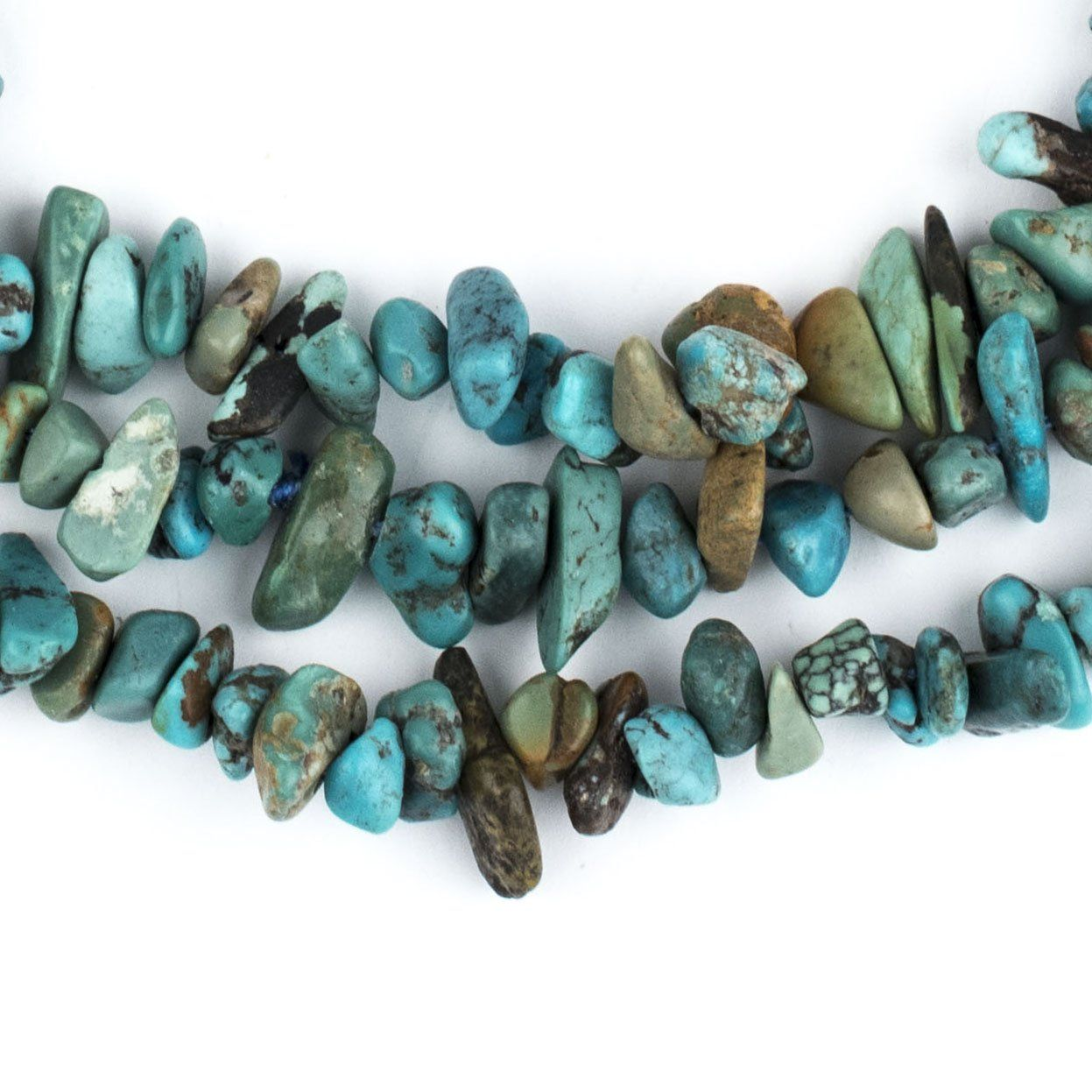 """Earthy Turquoise Chip Beads (36"""" Strand) How to make"""