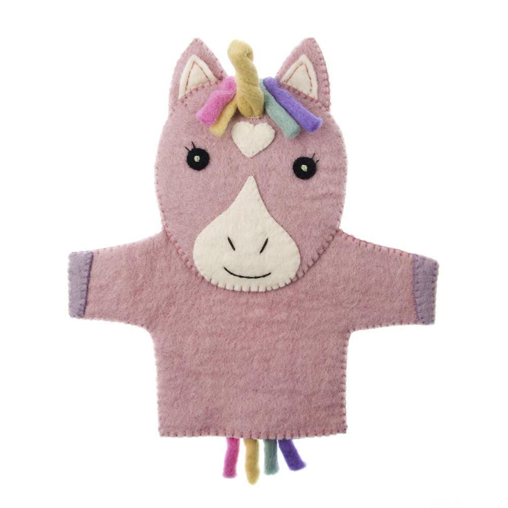 our handmade fair trade felt unicorn hand puppet will. Black Bedroom Furniture Sets. Home Design Ideas