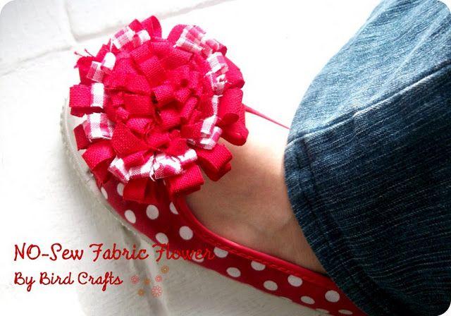 New Sew Fabric Flower (tutorial)
