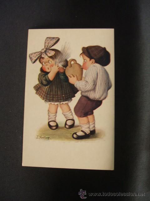 POSTAL ANTIGUA - NUM. 421 - UNA DUCHA - J. IBAÑEZ - (Postales - Niños)