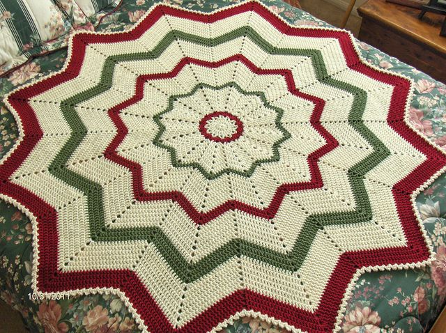 12 Point Round Ripple Rounding Crochet And Afghans