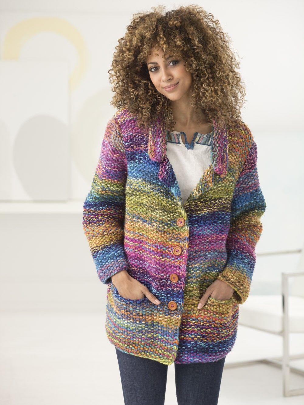 Calypso Cardigan (Knit) - Lion Brand Yarn