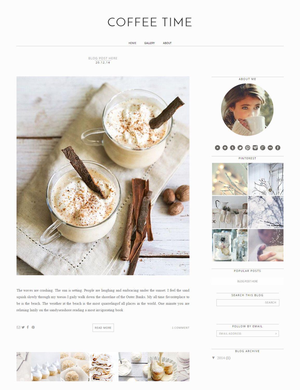 Responsive Blogger Template White Blogger Design Minimalist Blog