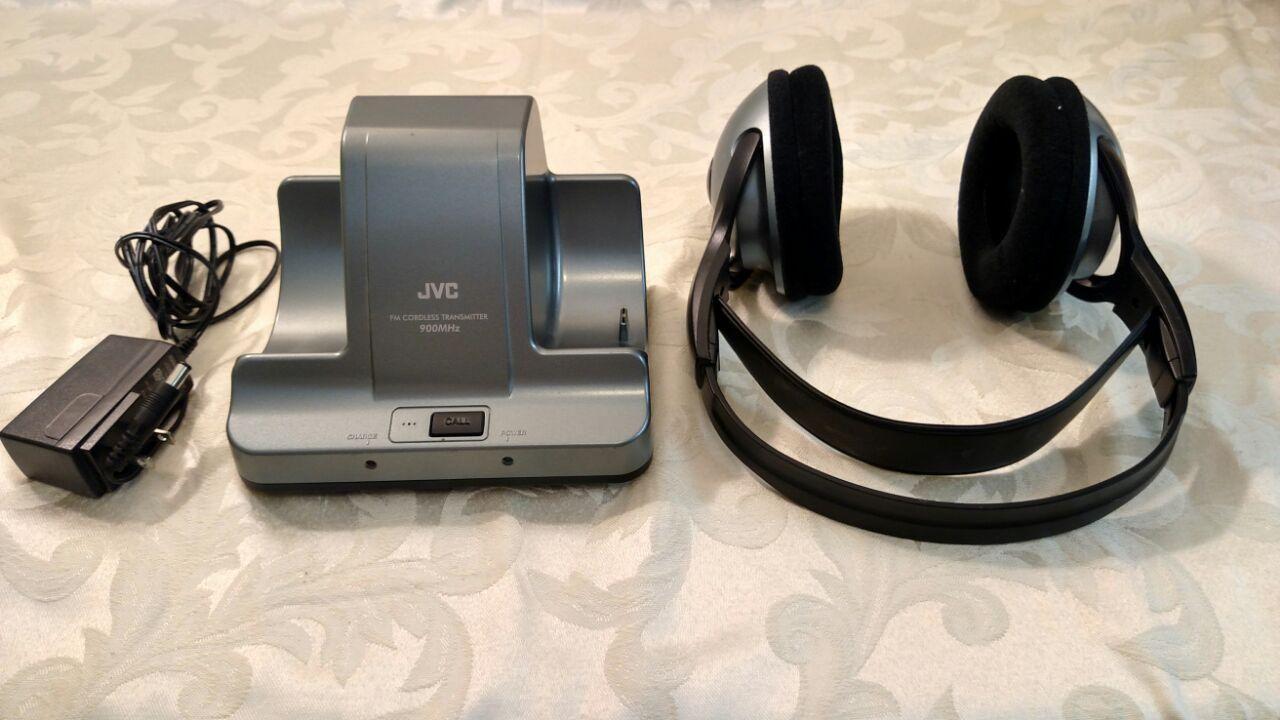 JVC HA W600RF 900 MHz FM Cordless Headphones And Transmitter EBay