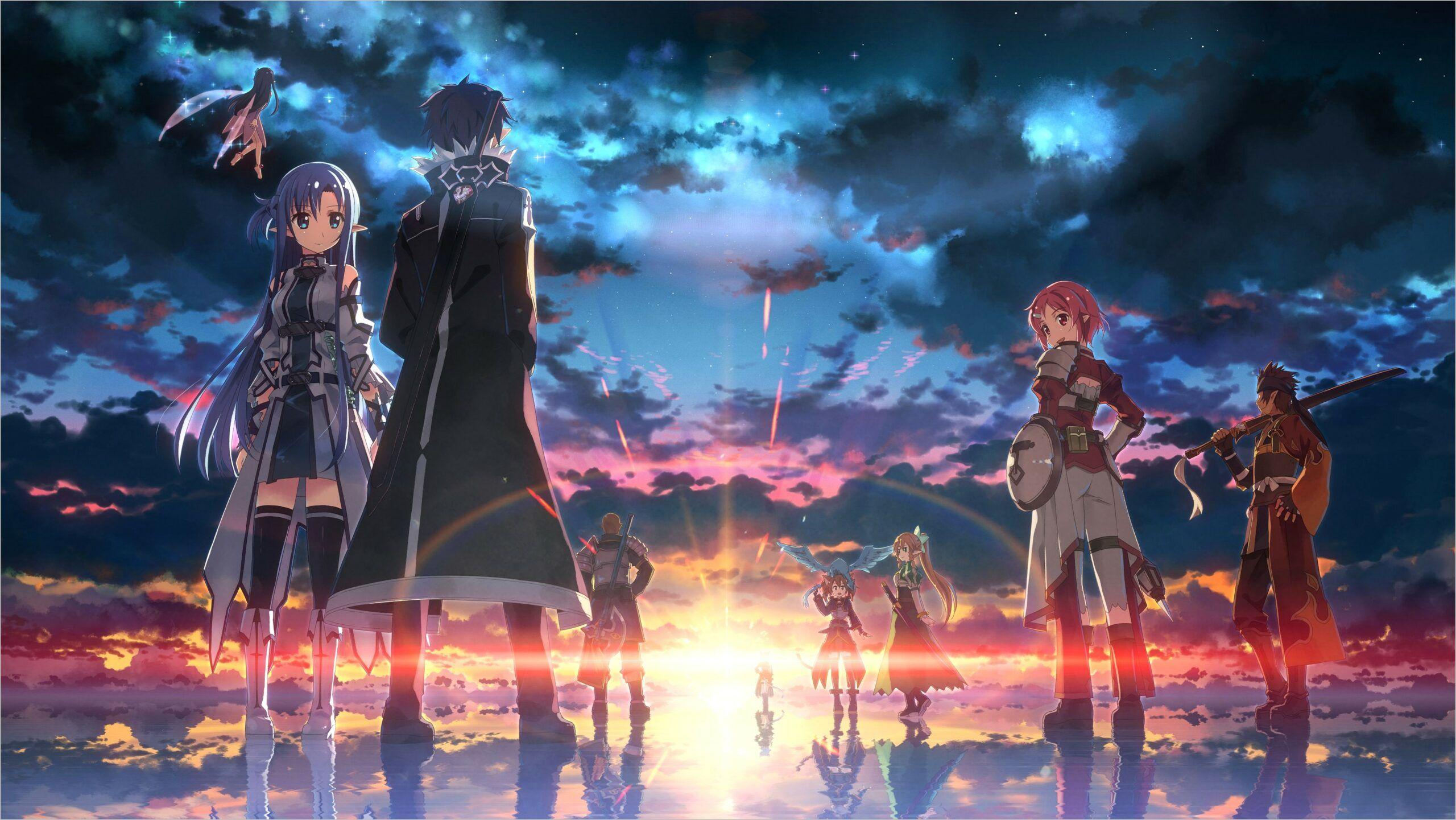 Wallpaper 4k Of Kawaii Anime Pc In 2020 Sword Art Online Wallpaper Sword Art Sword Art Online Poster