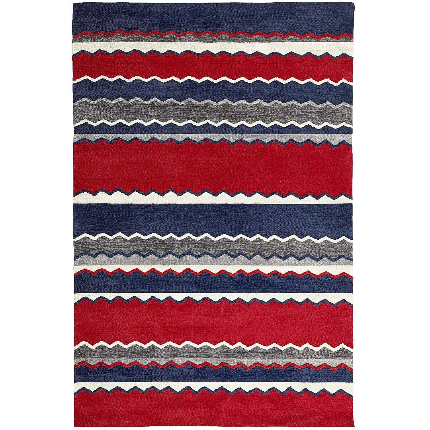 Americana Stripe Rug 5x8 Red With Images Striped Rug Rugs