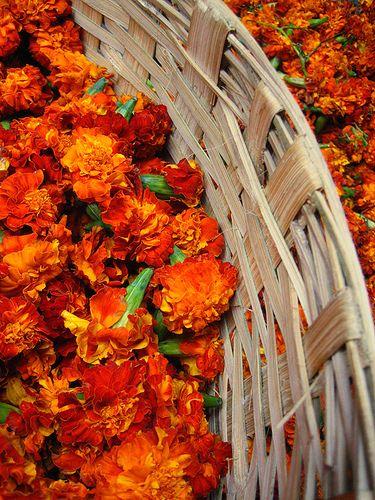 Indian Flower market marigold #Pinned by Devika Narain