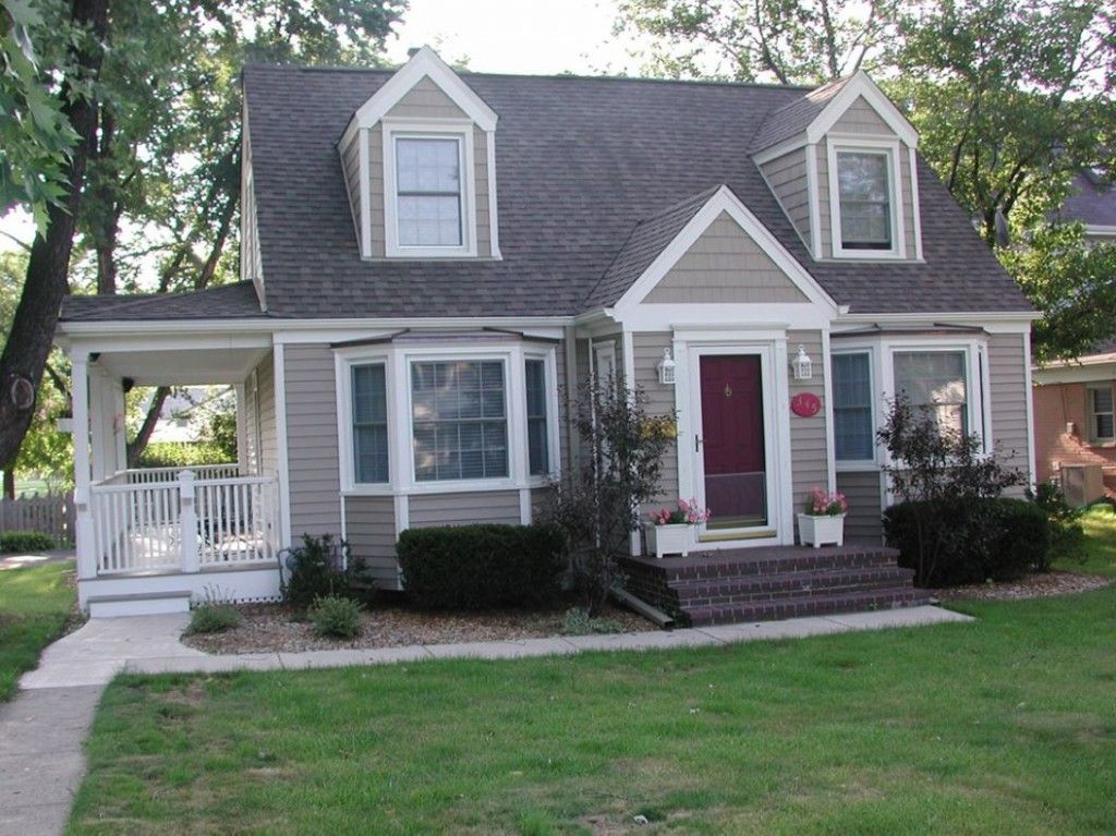 Vinyl Siding On A Cape Style Home With