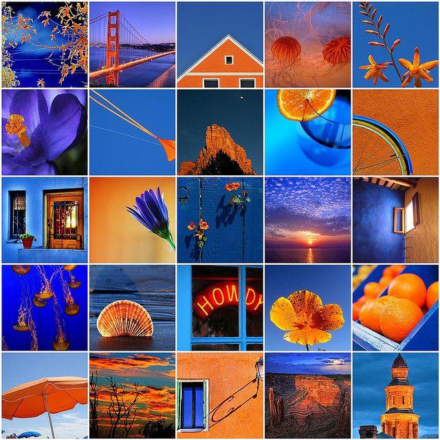 Contrasting Colors Blue Orange Lala Orange Blue