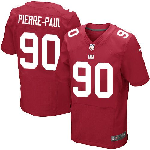 Jason Pierre Paul Rookie: Jason Pierre-Paul Elite Red Alternate NFL Jersey