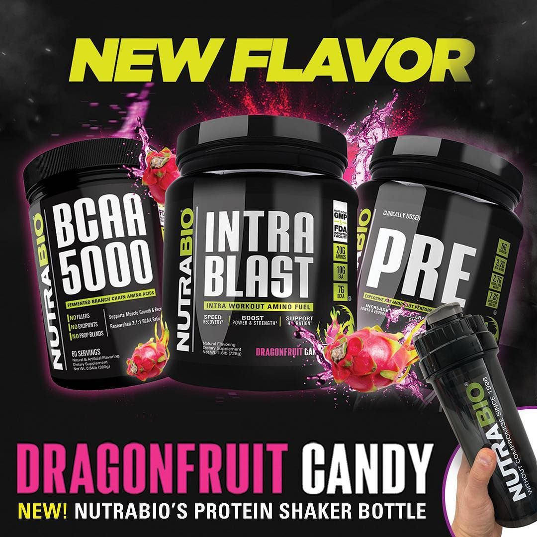 Nutrabio Dragon Fruit Candy Flavor System Now In Six Supplements Dragon Fruit Supplements Workout Supplements