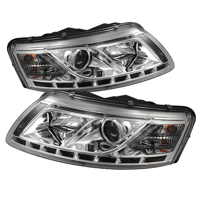 Chrome Clear Projector Headlights For Audi A6 2005 2006 2007 Coches