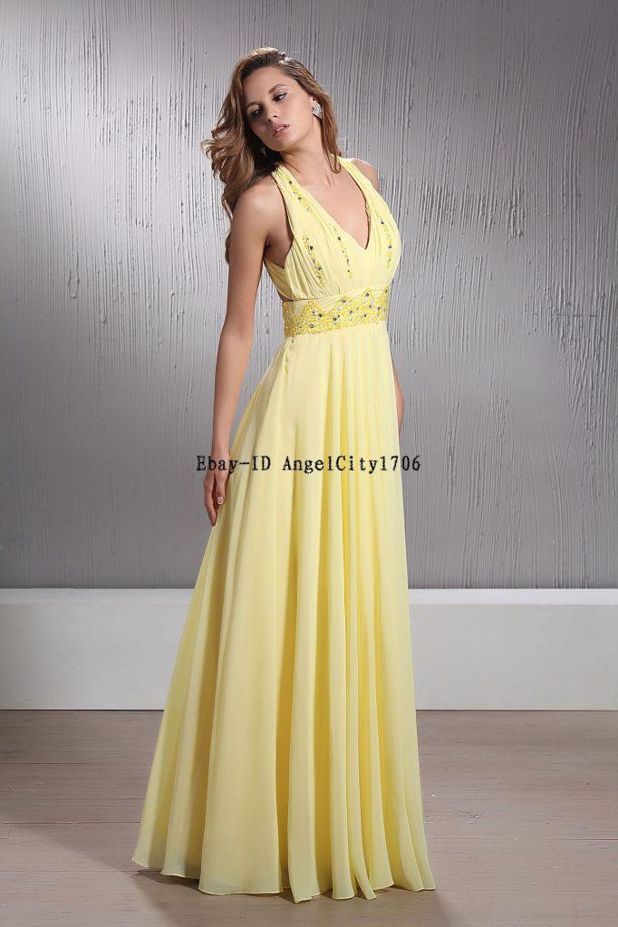 $99Bridal Bridesmaid Wedding Gown Prom Ball Evening Dress | eBay ...