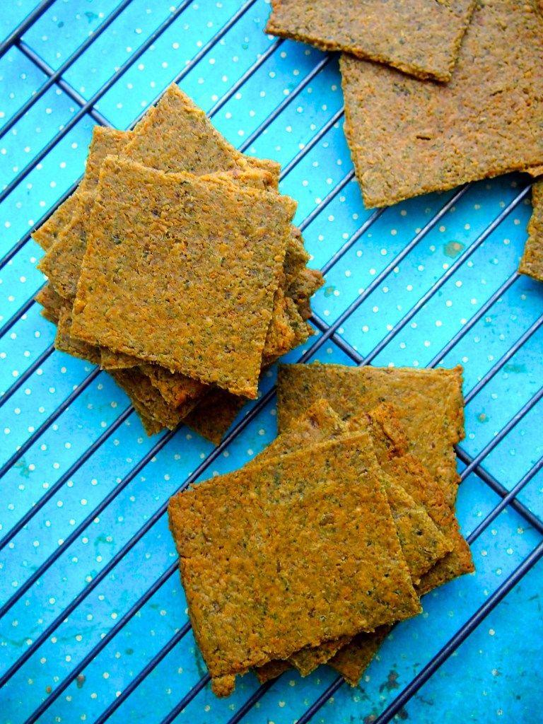 Homemade Vegetable Thins Crackers Paleo Aip Vegan