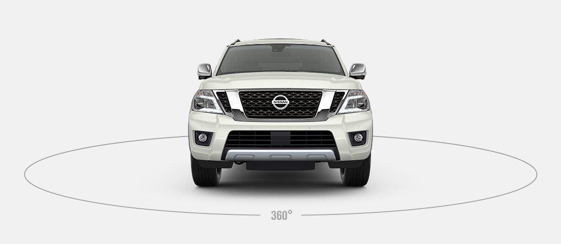 2017 Nissan Armada Front View White Nissan Armada 2017 Nissan Armada Nissan