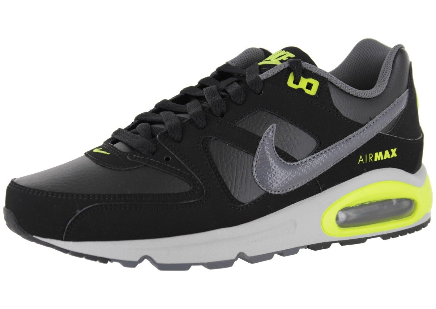 MEN'S NIKE AIR MAX COMMAND BLACK, GREY YELLOW WITH GREY