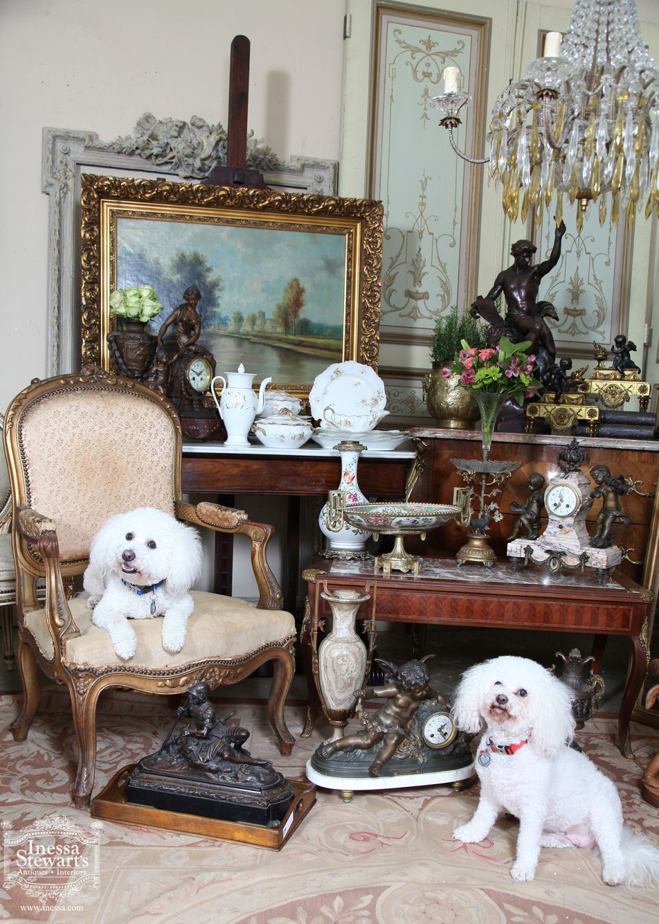 Louis and Zoie enjoying our antique new arrivals at the Baton Rouge store. - Louis And Zoie Enjoying Our Antique New Arrivals At The Baton Rouge