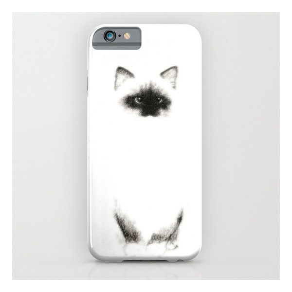 Angora Siamese Cat - Chat Siamois Angora iPhone & iPod Case (47 CAD) ❤ liked on Polyvore featuring accessories, tech accessories and iphone & ipod cases