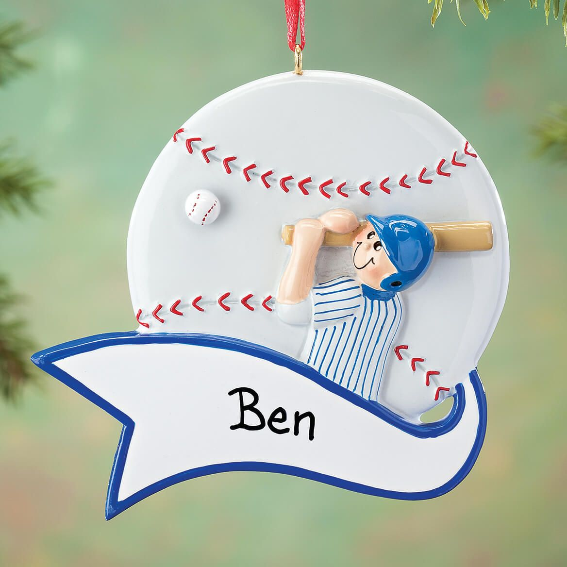 c70ffcd2c5c6a Score a home run with this Personalized Baseball Ornament perfect for any  baseball fan!