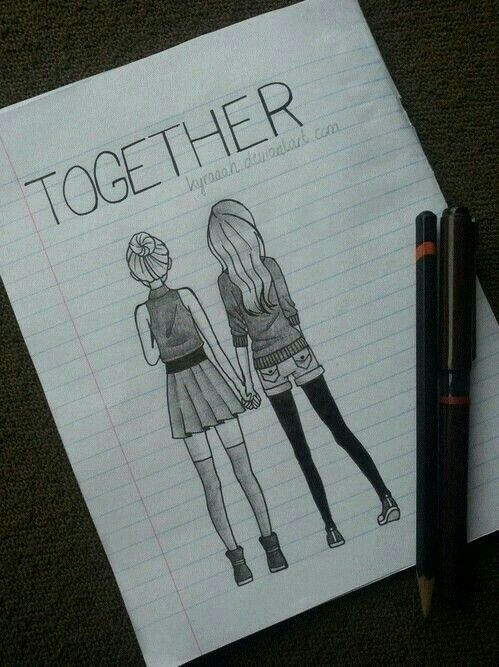 BFF Drawing in 2020 | Art drawings sketches simple, Pencil ...