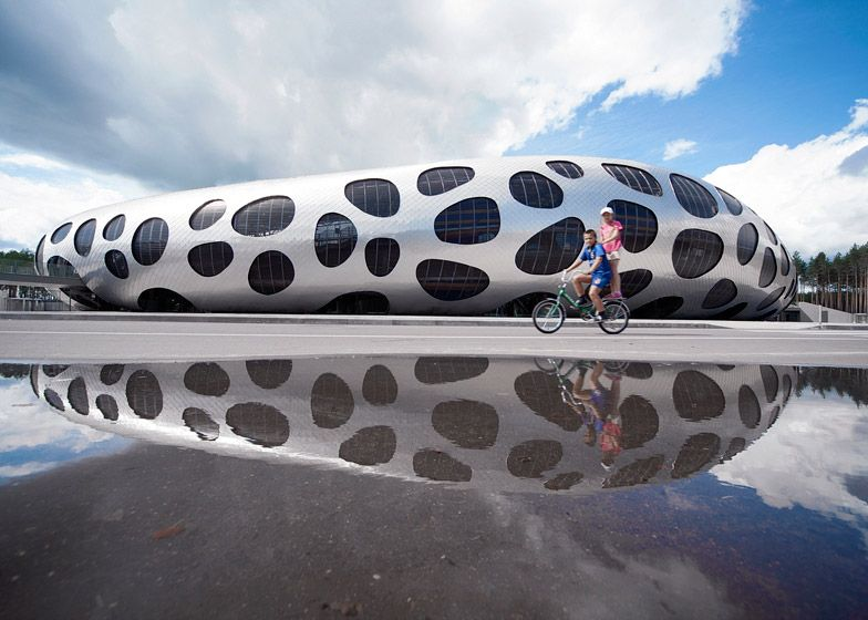 Awesome Bulbous, Spotty Stadium For Belarusian Football Club FC BATE Borisov. Images