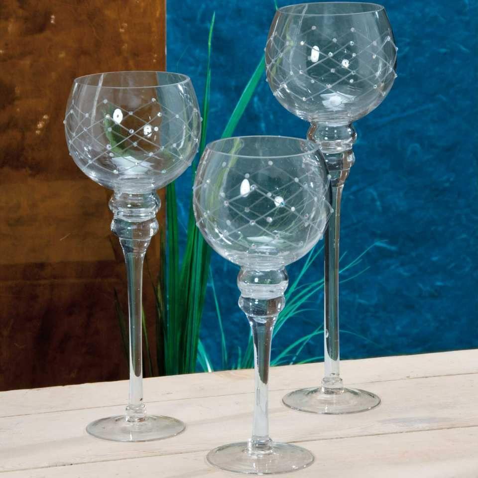 windlicht glas kelche 3er set kerzenst nder diese edlen glas kelche auf fu bestechen durch. Black Bedroom Furniture Sets. Home Design Ideas
