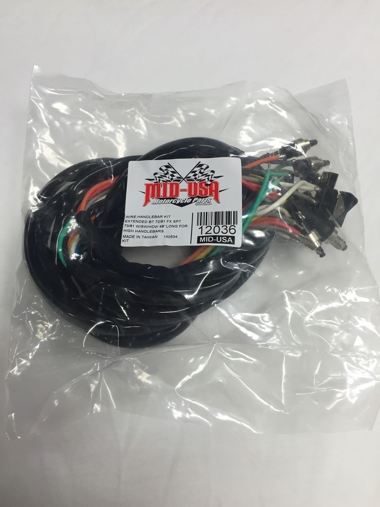 Ironhead Shovelhead Fl Fx Xl Sportster Wiring Harness Wswitches 48 Inches Midusa: 93 Sportster Wiring Harness At Sewuka.co