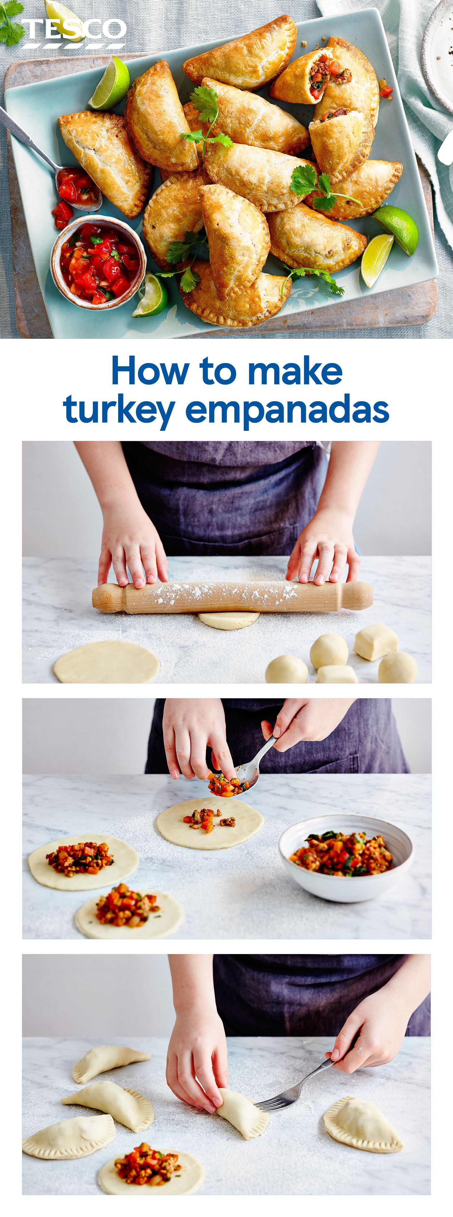 How to make turkey empanadas (With images)   Mince recipes ...