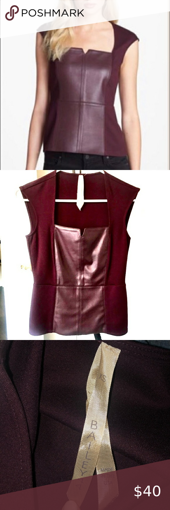 Bailey 44 Wine LEGACY of Terror Leather Bustier XS