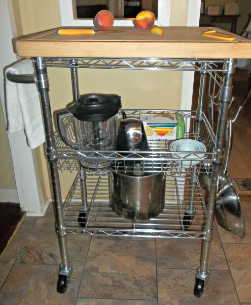 TRINITY EcoStorage Bamboo Kitchen Cart Review   Sweet Southern Lovin
