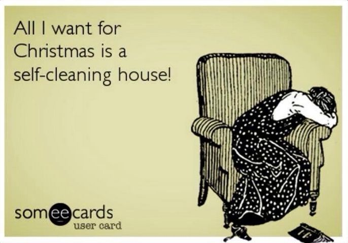 All I Want For Christmas Is A Self Cleaning House Christmas Humor Ecards Funny Funny Christmas Cards