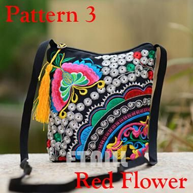 106b3f22b8 Ethnic Hmong Boho Indian Embroidered Small Shoulder Bag Handmade Fabric  Embroidery Logo Luxury Brand Crossbody Bags for Women