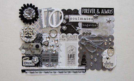 25th Silver Wedding Anniversary Custom Mini Book Album DIY Kit Scrapbook On Etsy