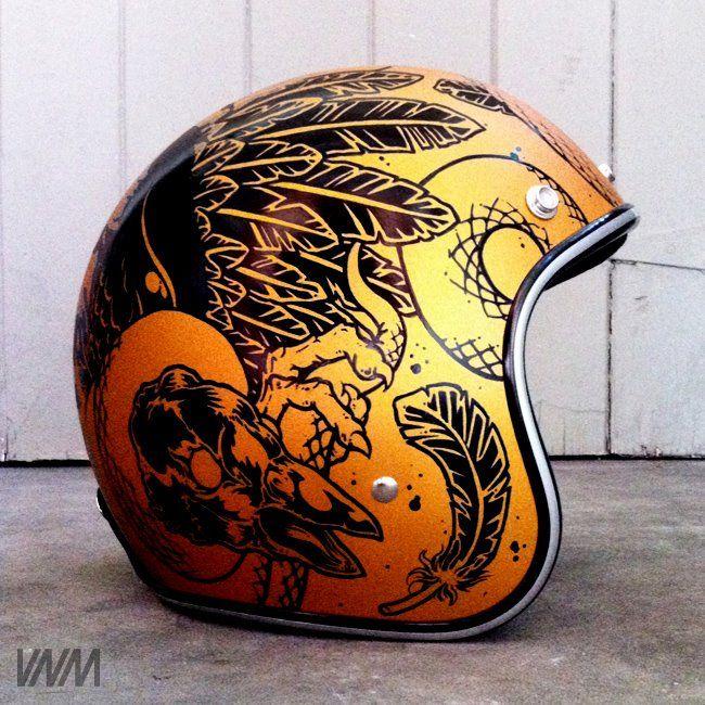 Custom Helmet Paint Job Vintage Helmet Motorcycle Helmets