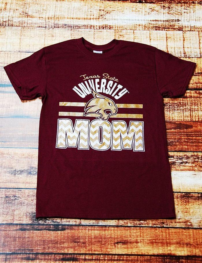 Show your bobcat love and support in this trendy texas for Custom t shirts san marcos tx