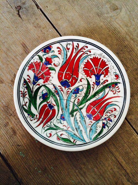 Hand Made Turkish Ceramic Plate / Wall Decor & Hand Made Turkish Ceramic Plate / Wall Decor | Plate wall decor ...