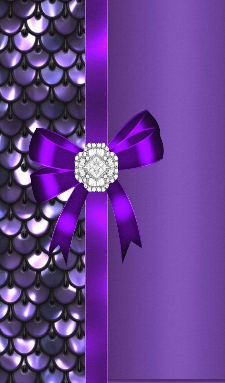 Pin By Patricia Vayssie On Luxury Purple Wallpaper Bow Wallpaper Bling Wallpaper