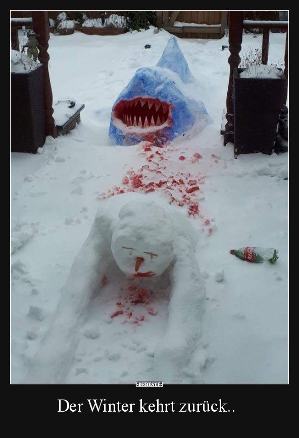 Der Winter kehrt zurück.. | Schneespaß, Winterspaß ...
