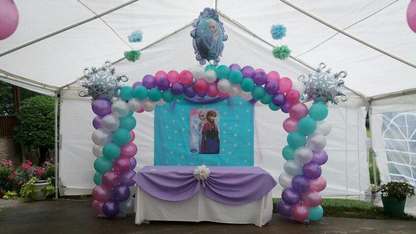 Tema de Frozen Arco de globos Frozen theme balloon arch frozen