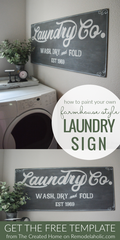 Remodelaholic Fixer Upper Inspired Farmhouse Laundry Sign Free Template Laundry Signs Farmhouse Laundry Laundry Room Signs