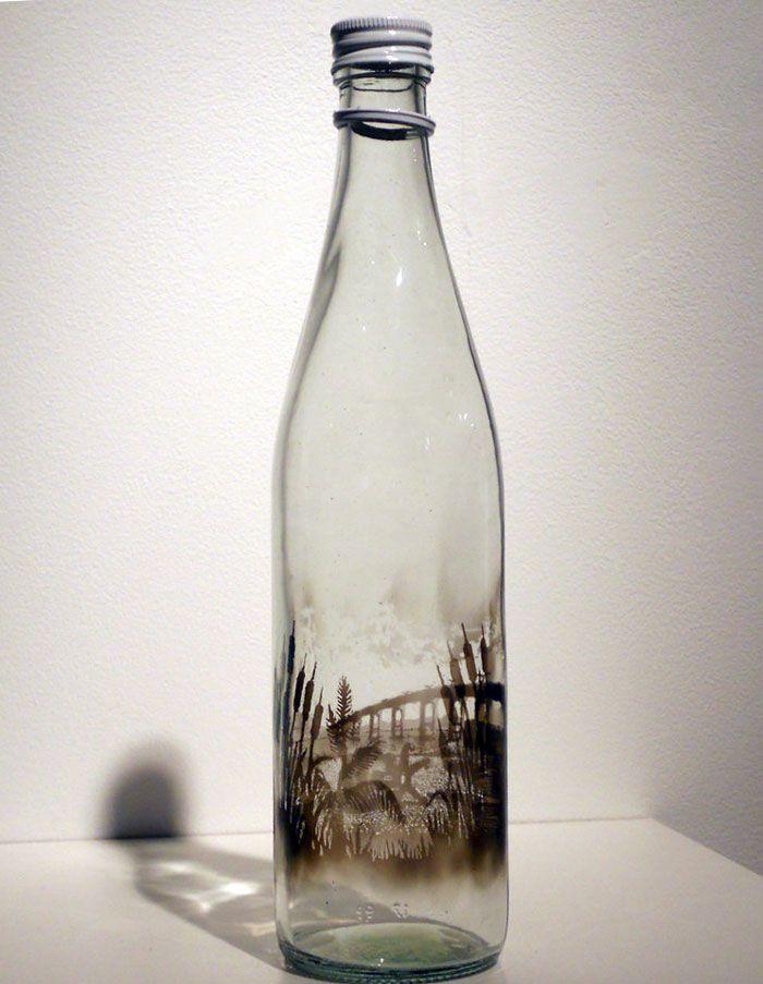 bouteilles peintes a la fumee par jim dangilian 4   Les bouteilles peintes à la fumée de Jim Dingilian   photo peinture Jim Dingilian image ...