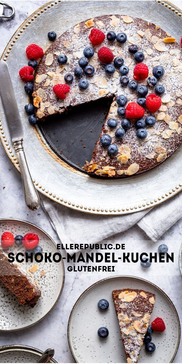 Schoko-Mandel-Kuchen (glutenfrei) | Rezept | Elle Republic
