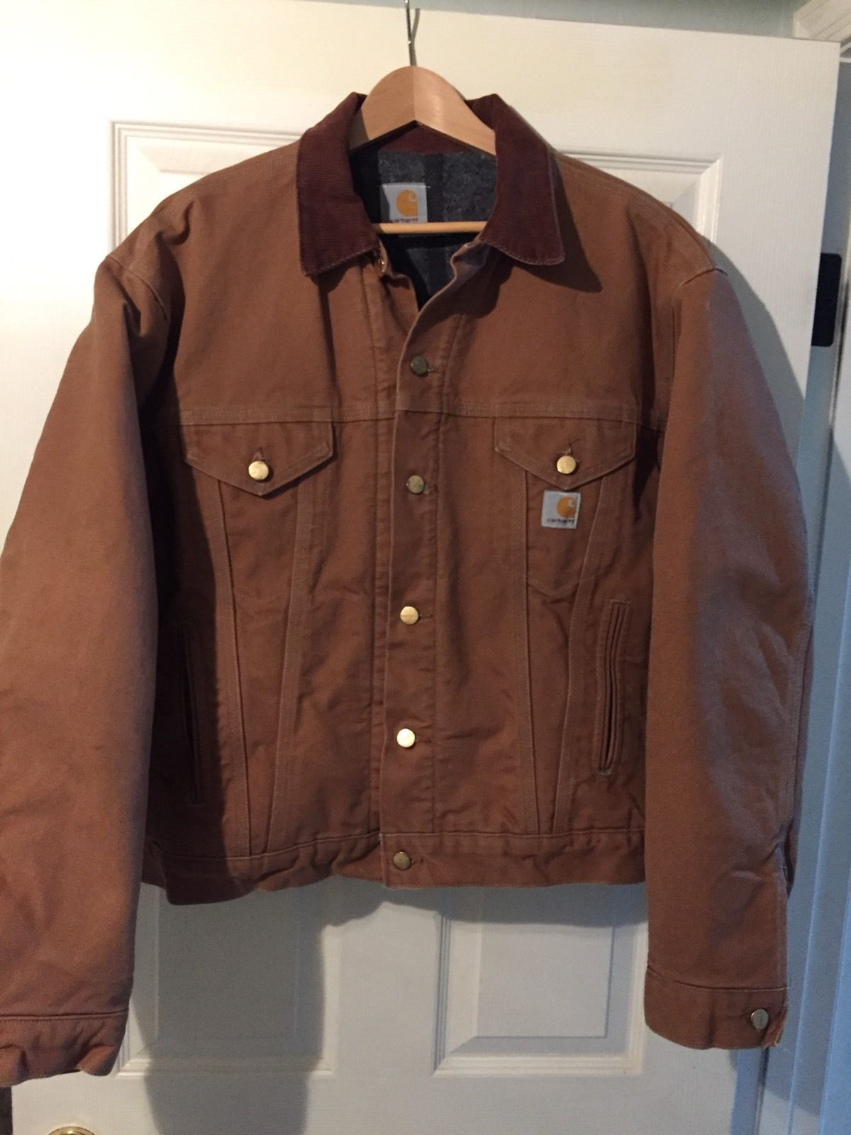 e2f97d0477f Carhartt Vintage Excellent S/M Blanket Lined Trucker Jacket Detroit Button  38