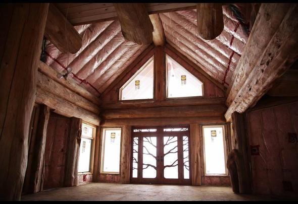 1 7m Log Home In Manitouwabing Lake Ontario Log Homes Lake Hgtv