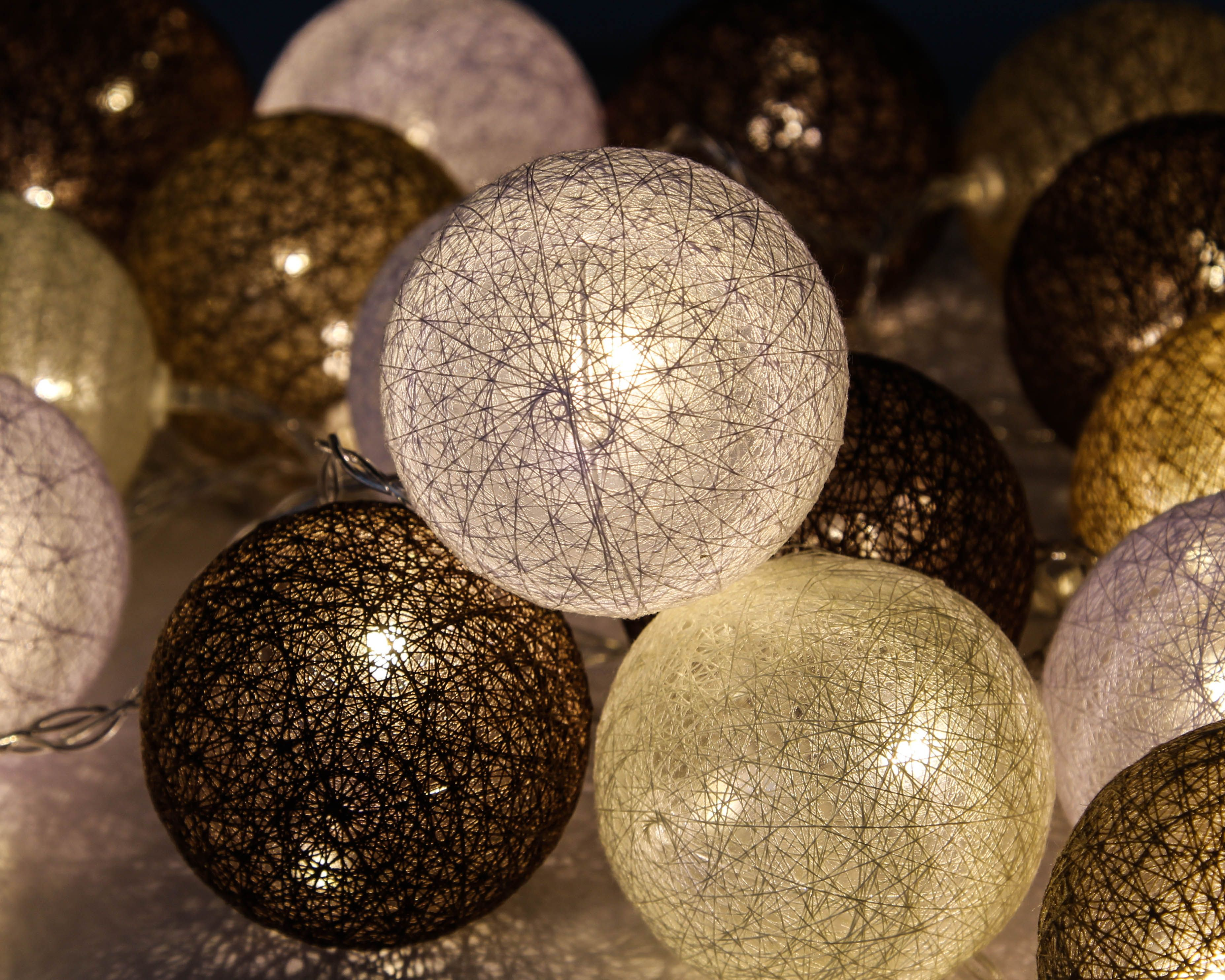 Lampki Kule 20 Led Cotton Balls