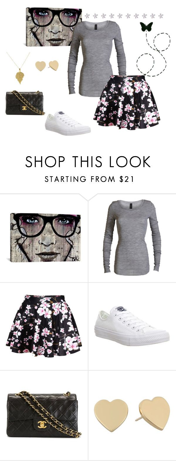 """""""#169"""" by naianesilva on Polyvore featuring iCanvas, Converse, Chanel, Kate Spade, women's clothing, women's fashion, women, female, woman and misses"""