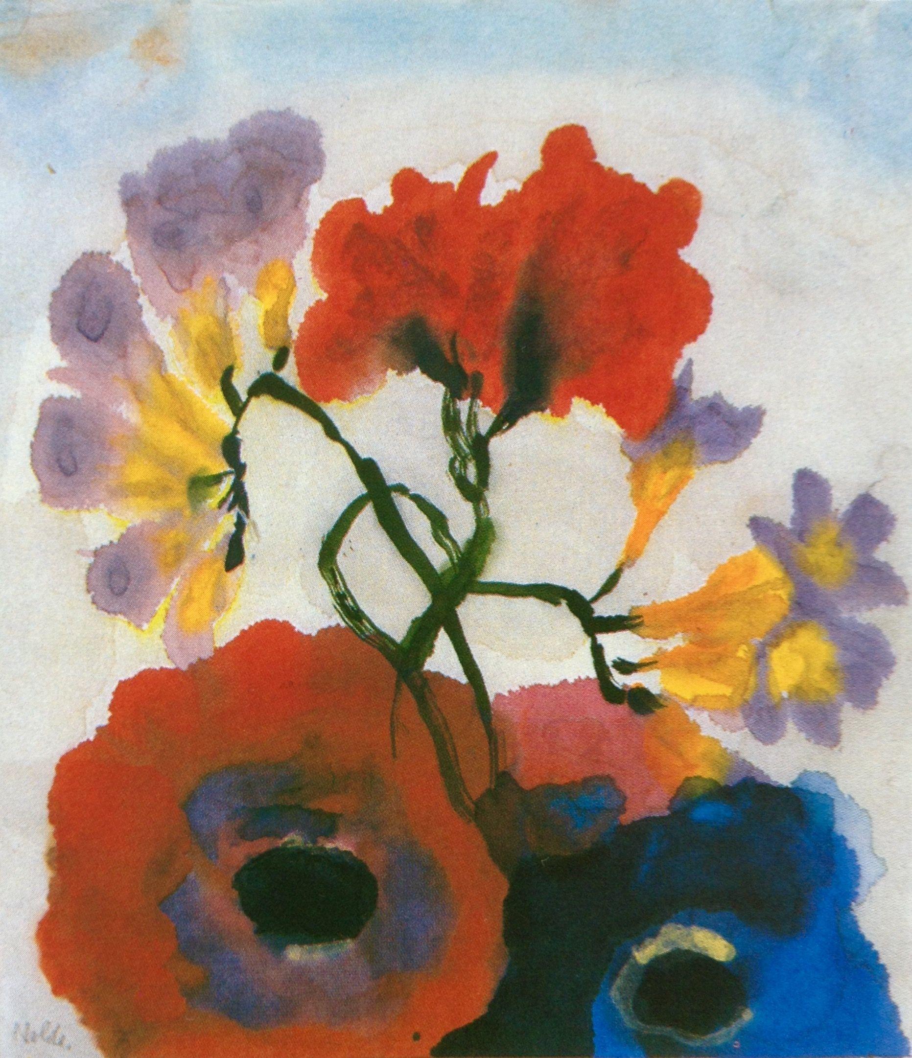 Eines Meiner Liebsten Aquarelle Fresien Und Mohnblumen Emil Nolde