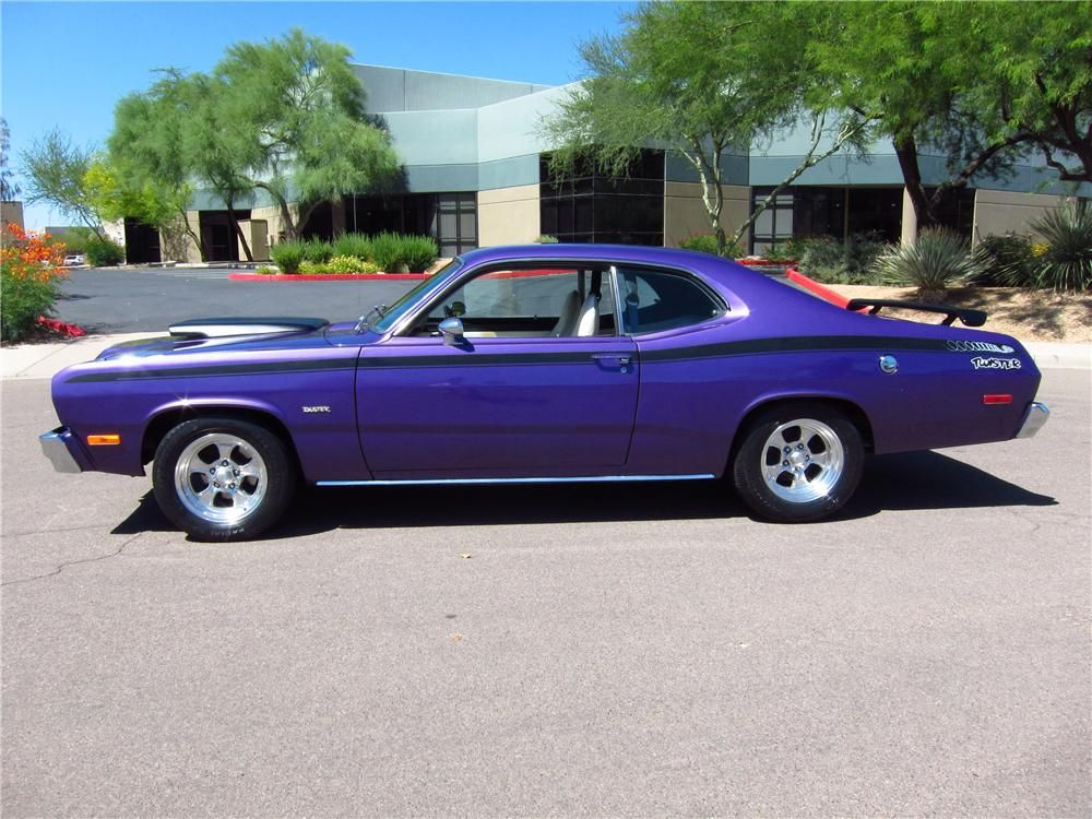 purple plymouth duster 1974 plymouth duster 2 door hardtop