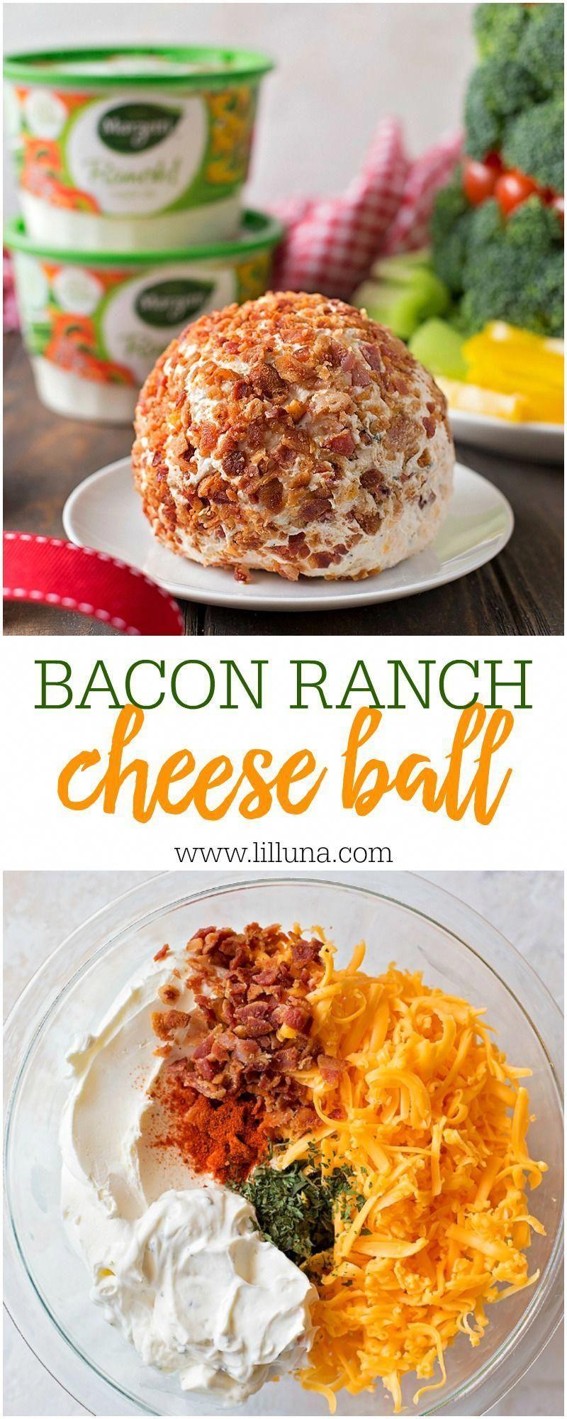 Bacon Ranch Käseball Rezept  VIDEO  Lil 39Luna Bacon Ranch Käseball Rezept  VIDEO  Lil Luna